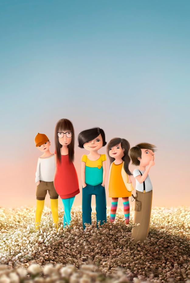 Character illustration desktop image