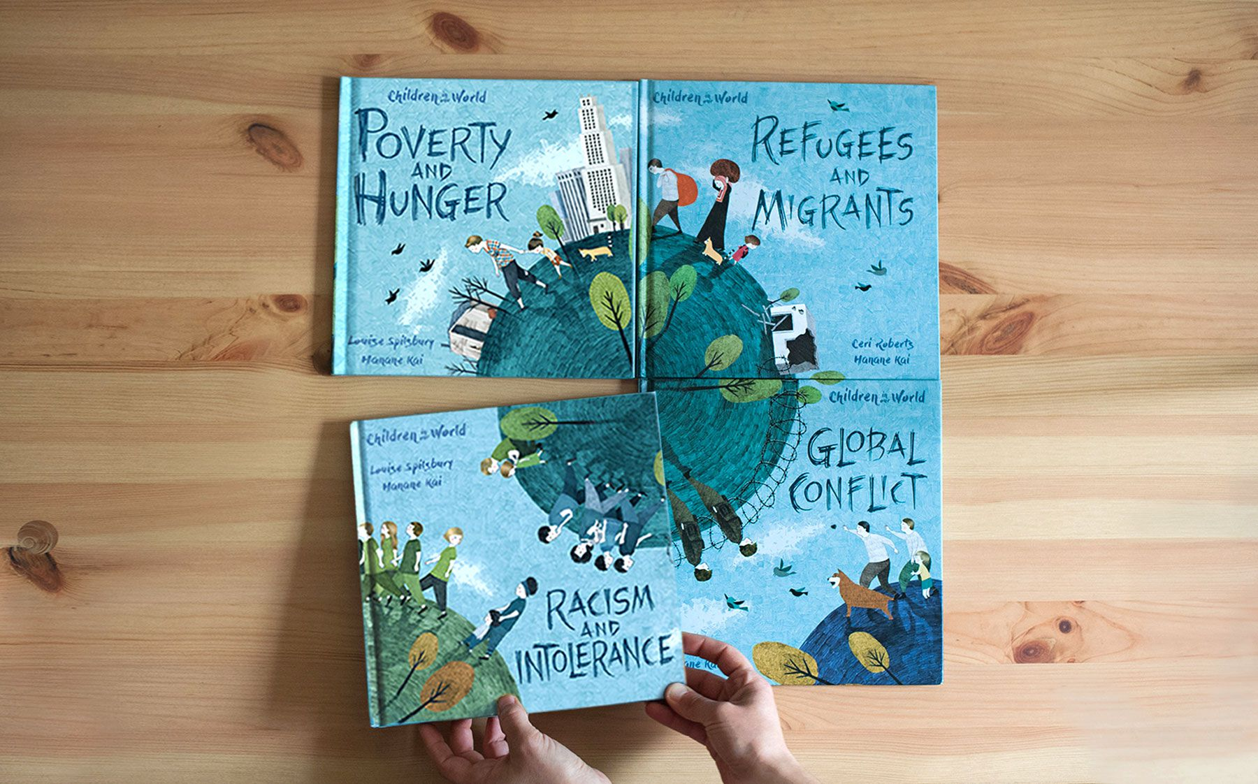 children in our world book illustration