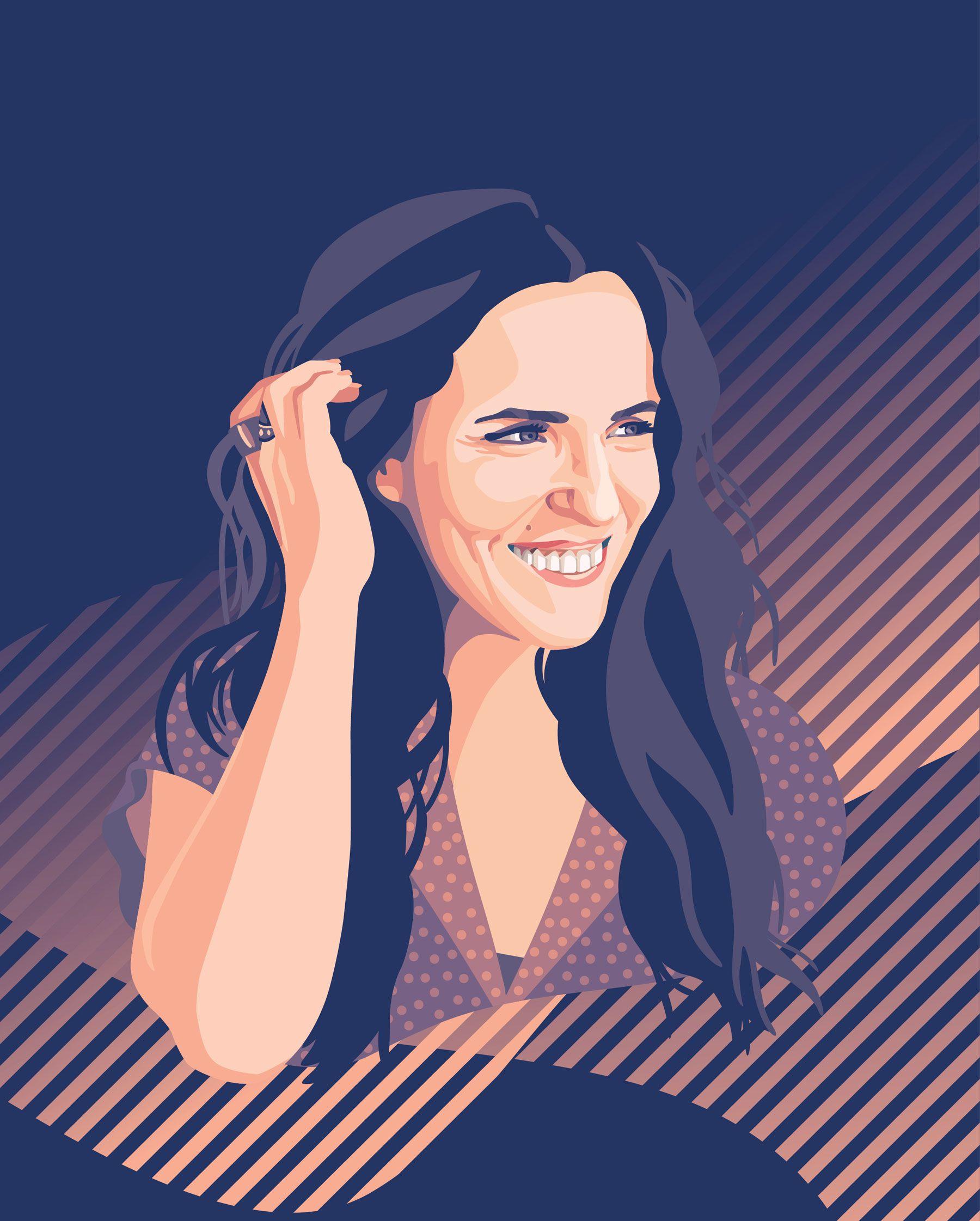 Portrait illustration Rachel Hollis