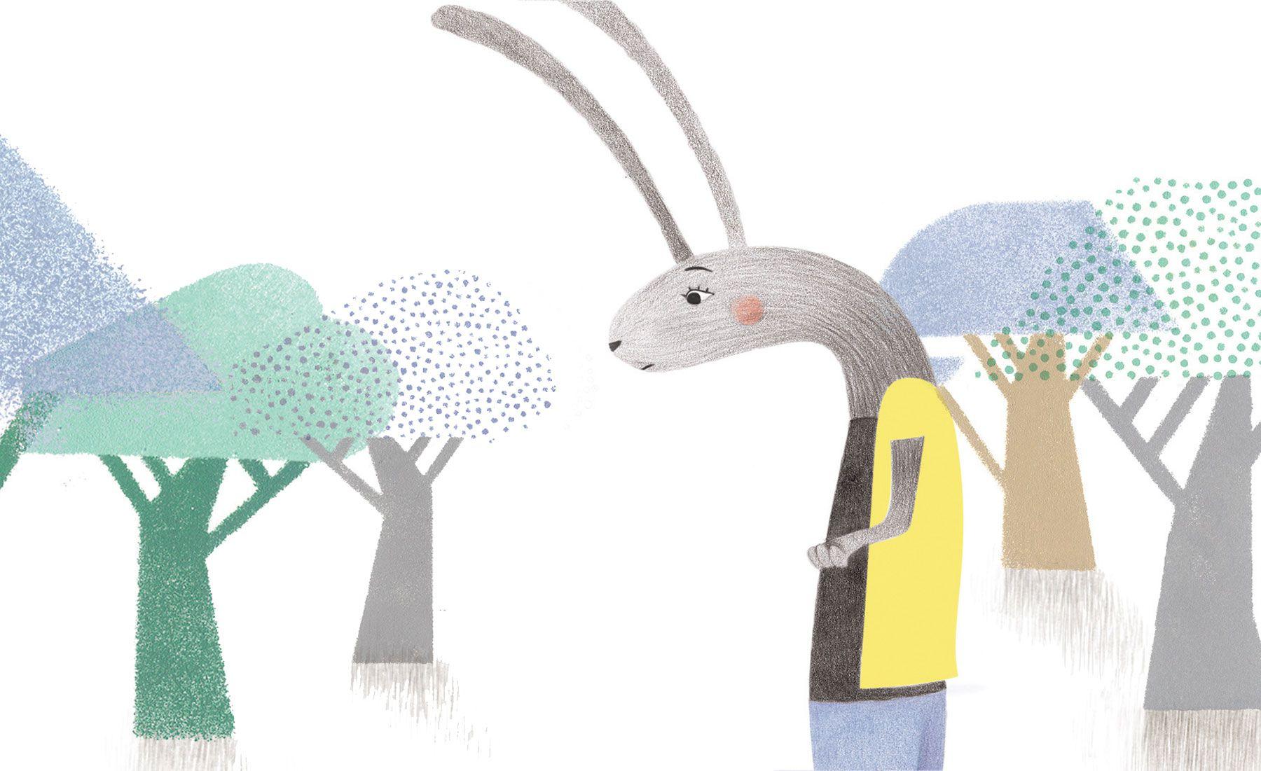 Children's book illustration pencil coloring