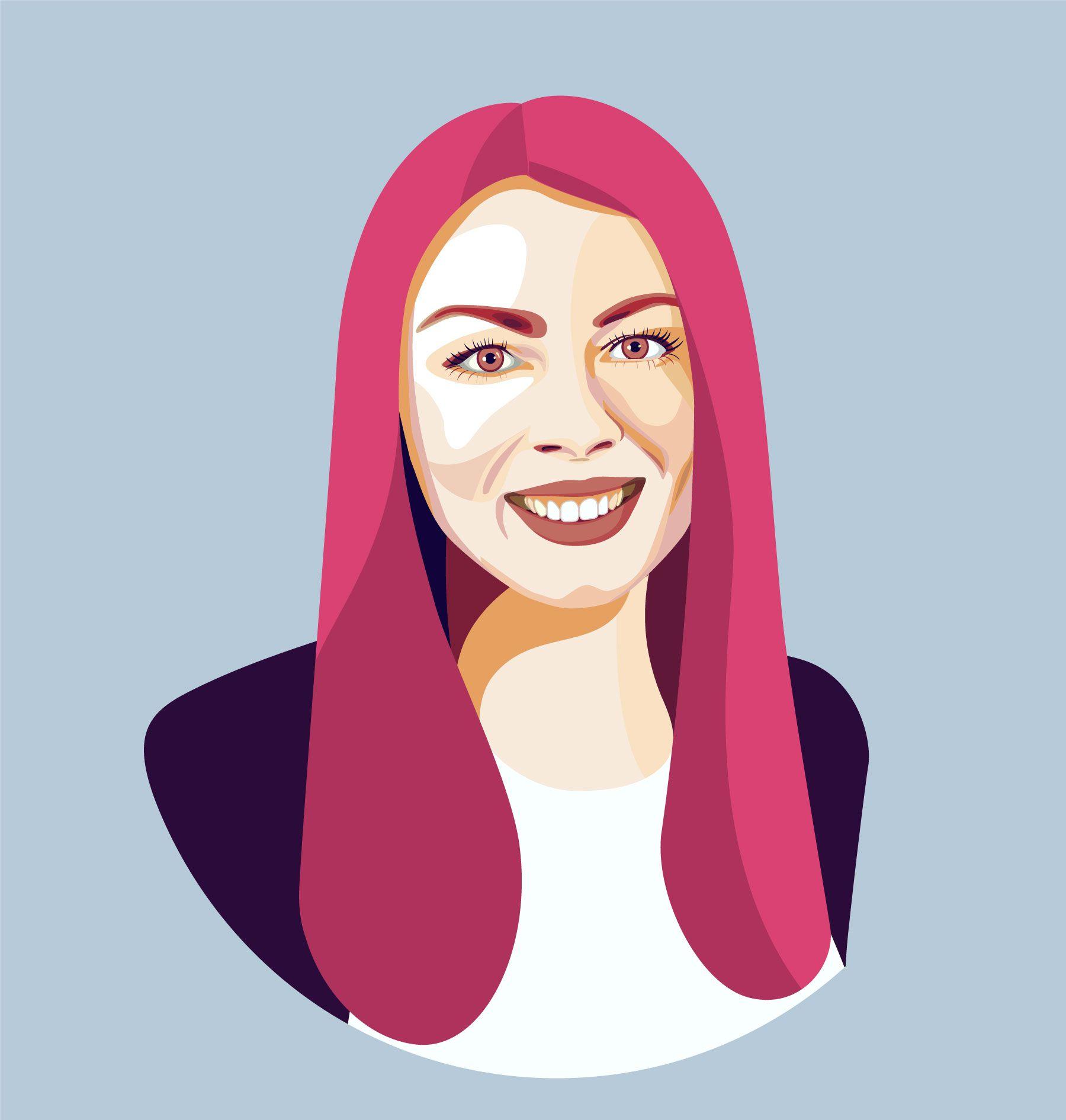 Ksenia Yudina portrait illustration