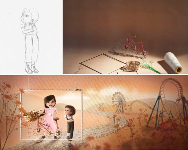 making of miniature set for children