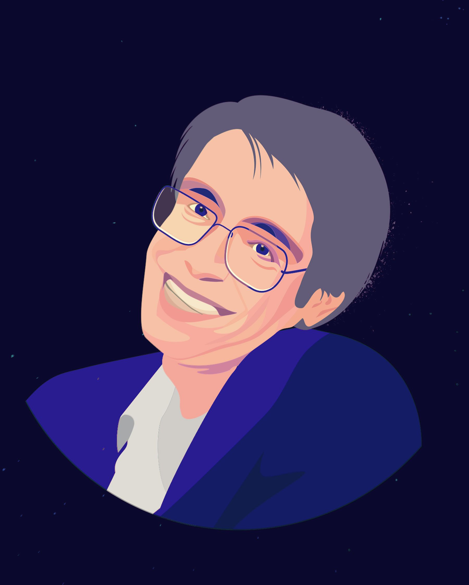 Stephen Hawking portrait illustration