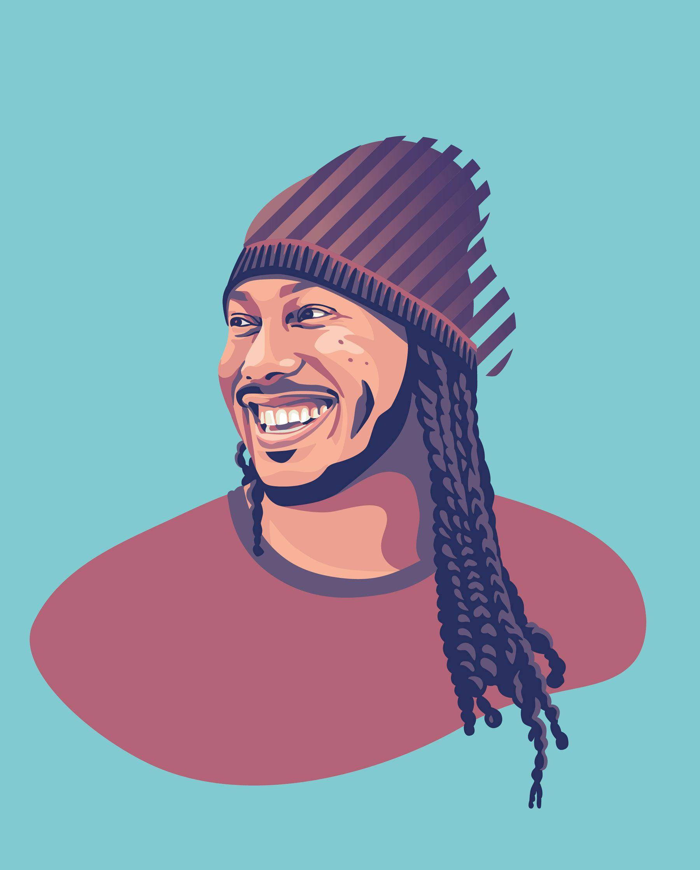 Portrait illustration Trent Shelton