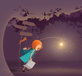 Illustration for an explorer blog