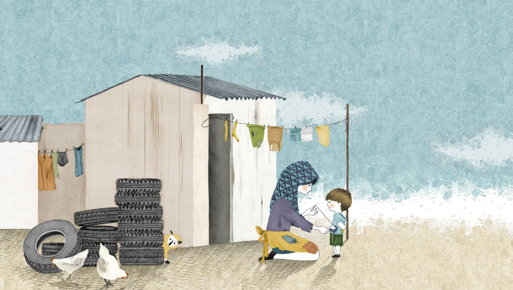 children in our world book illustration refugees poverty