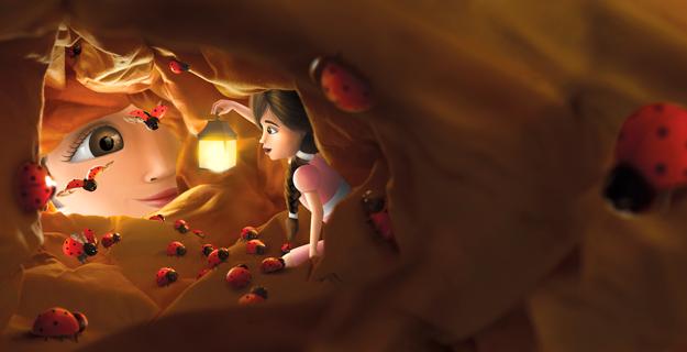 illustration for children using miniature set design