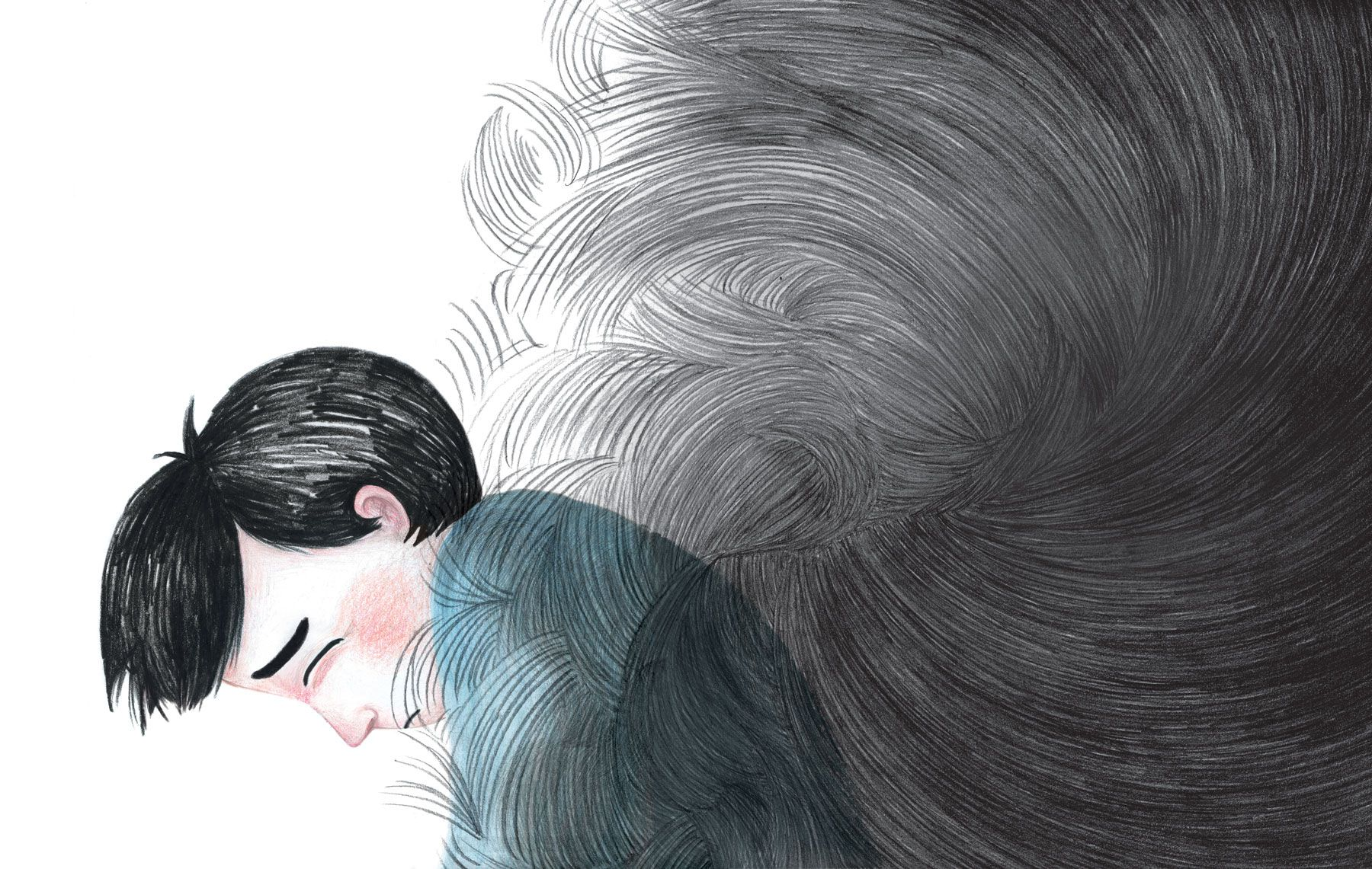 children book pencil illustration PTSD سأكون على ما يرام