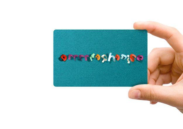 speech therapist business card