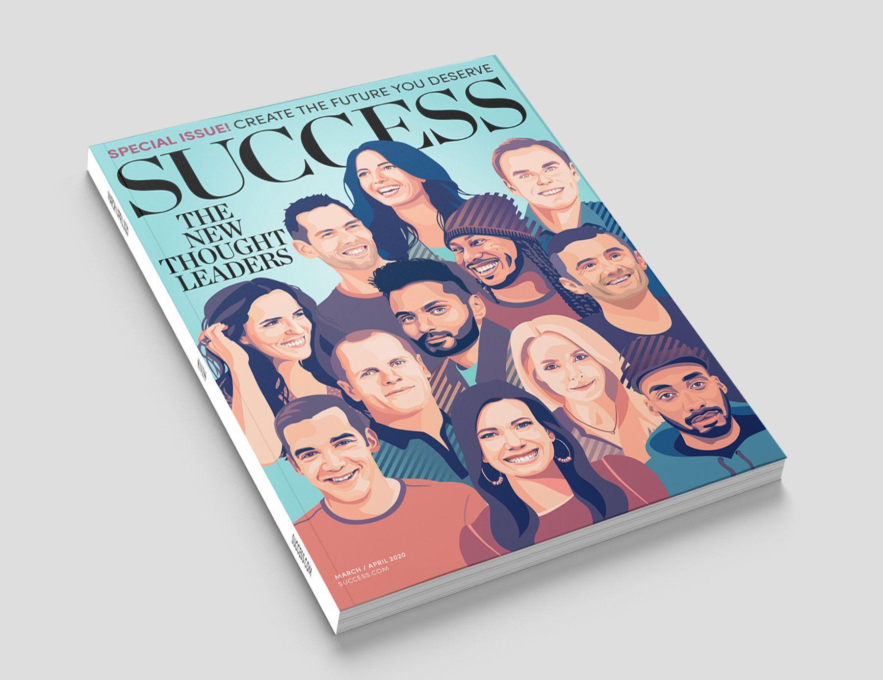 Success magazine portrait illustration cover