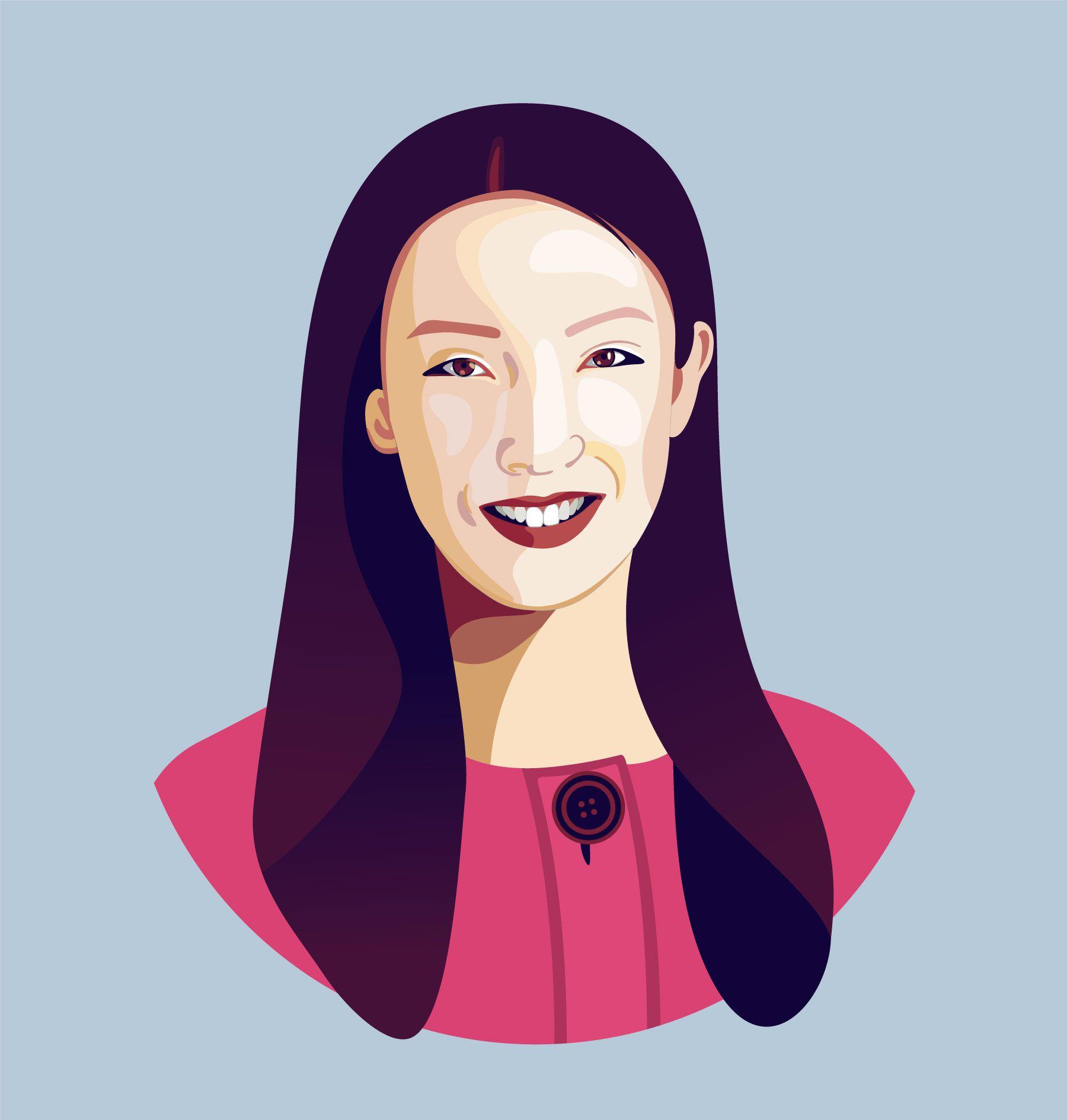 Clara Shih portrait illustration