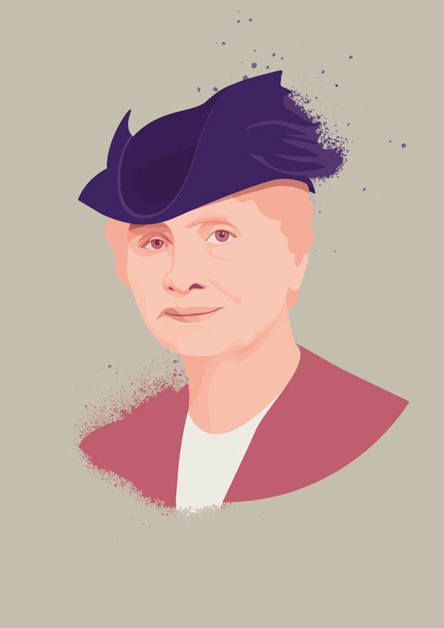 Hellen Keller portrait illustration by Hanane Kai