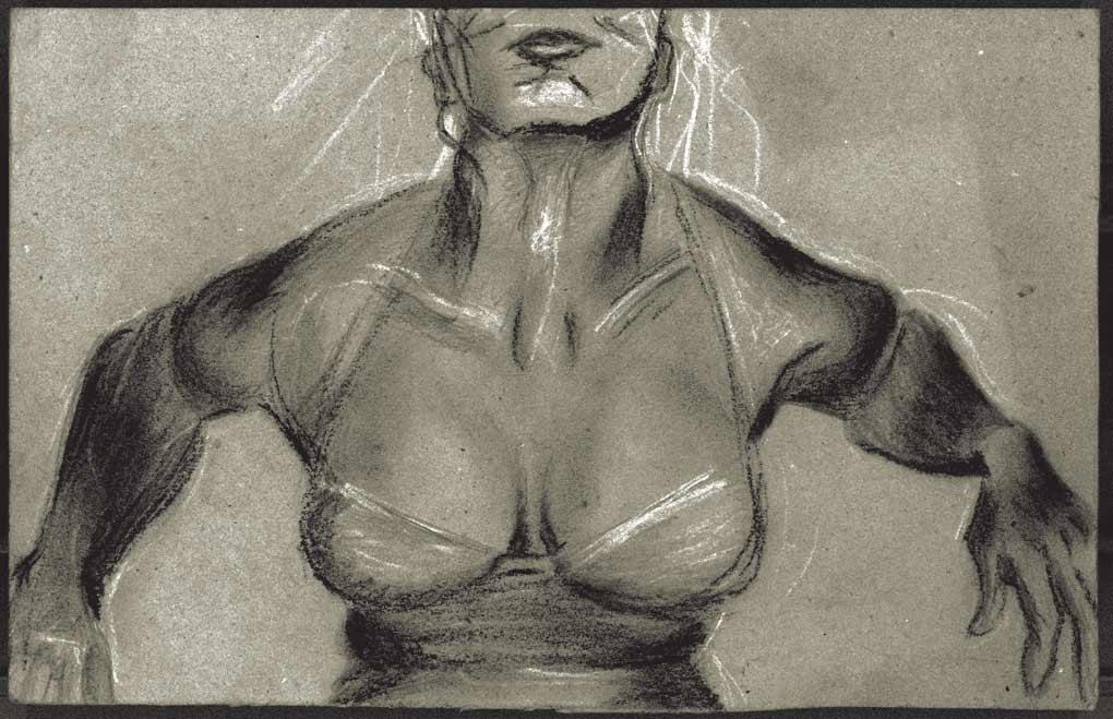 conté illustration by hanane kai