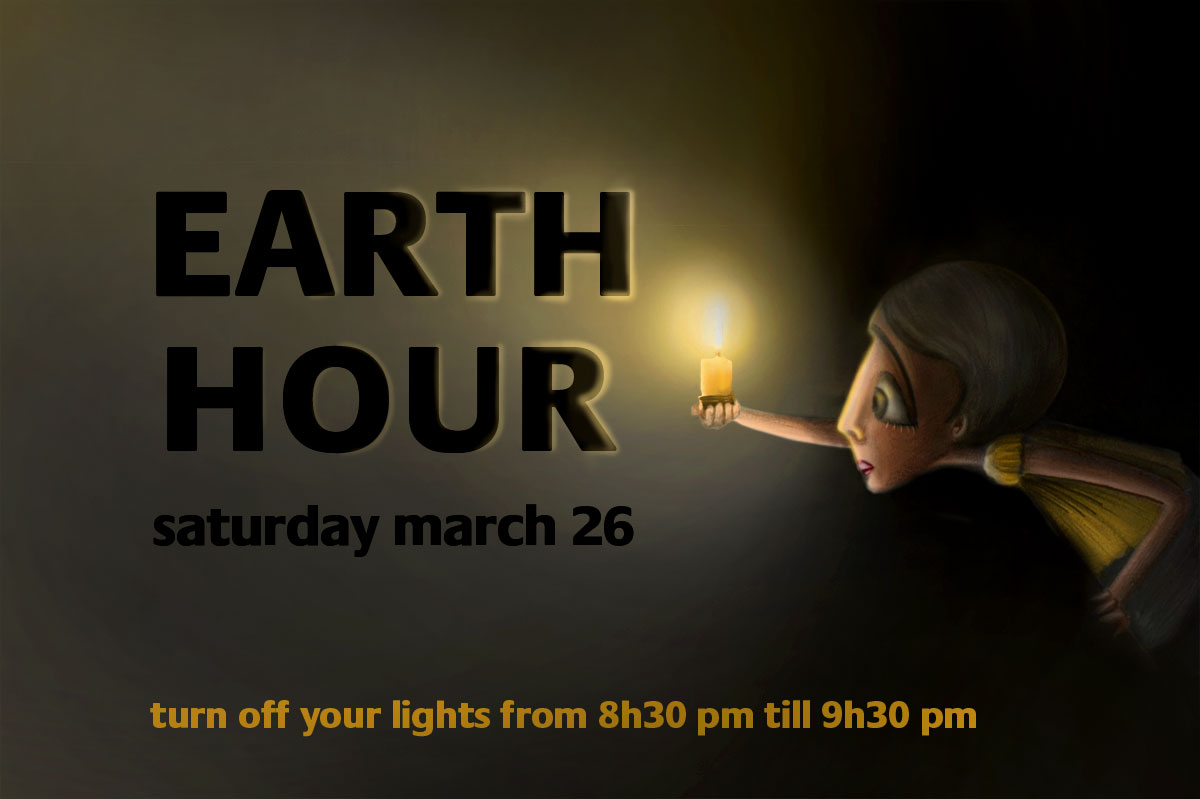 earth hour illustration